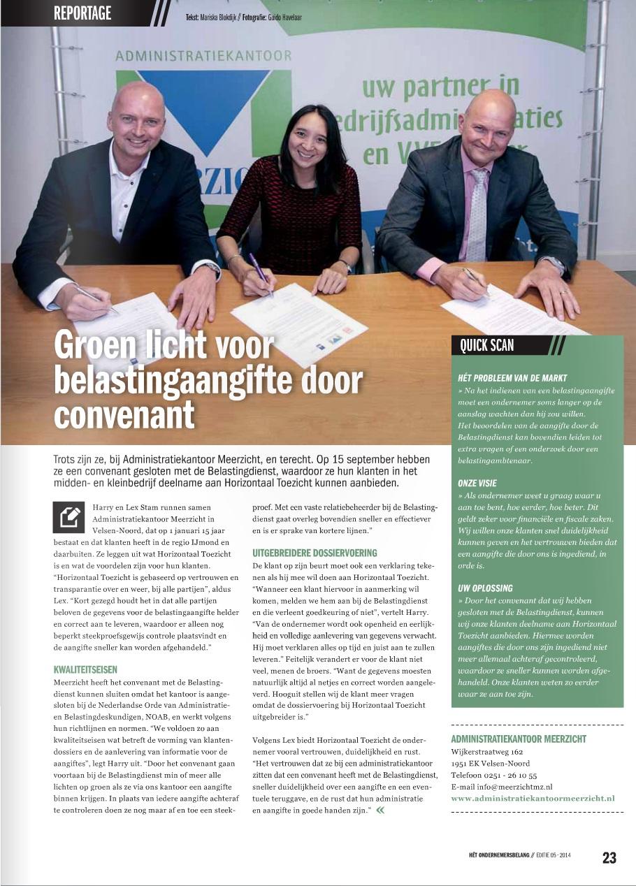 Reportage Het Ondernemersbelang IJmond 5-2014